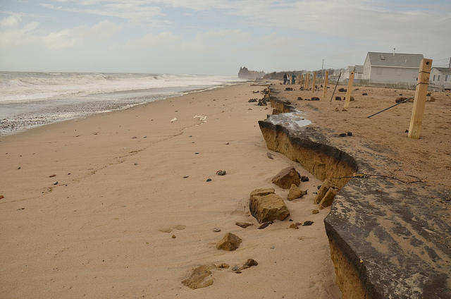 Extensive erosion in Matunuck, R.I. Tropical Storm Sandy caused severe erosion along the southern Rhode Island coast in 2012.