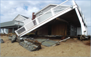 Many private properties were damaged along the south coast of R.I. during Sandy.